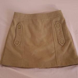 Topshop Petite Mini Wool Skirt